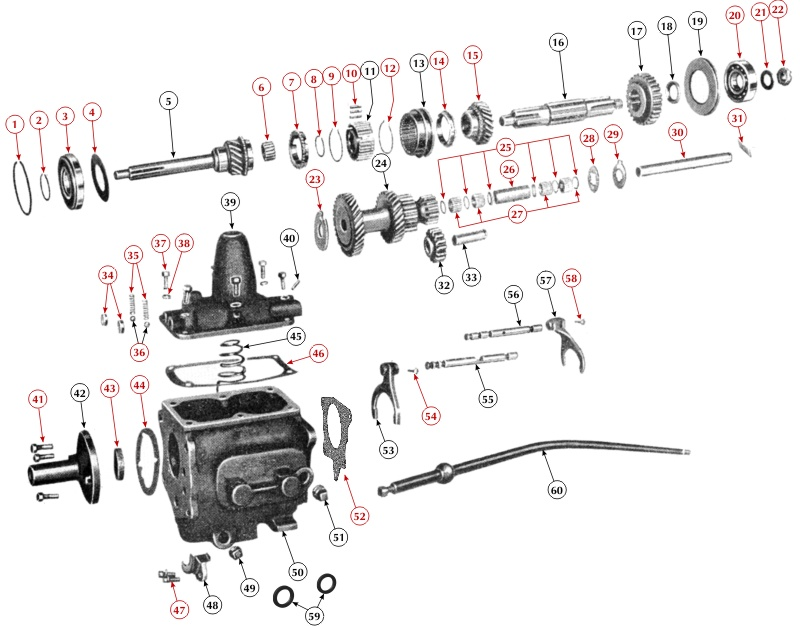 in 1942 ford tractor wiring diagram parts for the t90 transmission  parts for the t90 transmission
