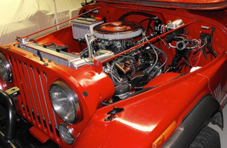Jeep CJ with V8 Engine Swap