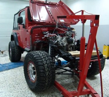 TJ V8 Engine Placement