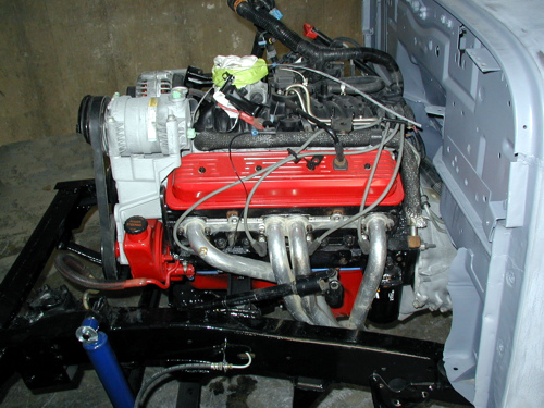 Utility V8 engine side view