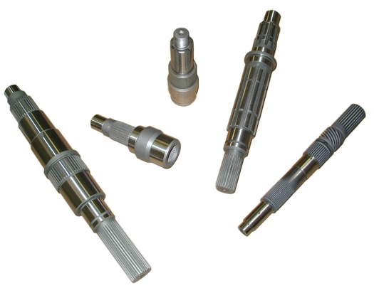 Power transmission spline shafts